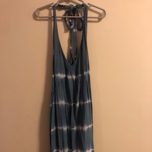 Halter blue dress